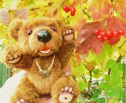 Мишки Тедди ручной работы. Ярмарка Мастеров - ручная работа. Купить Мишка Тедди (дачник Миша). Handmade. Коричневый, медведи