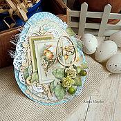 Открытки ручной работы. Ярмарка Мастеров - ручная работа Тег Пасхальный в форме яйца. Handmade.