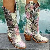 Обувь ручной работы handmade. Livemaster - original item Boots Python COSSACK. Handmade.