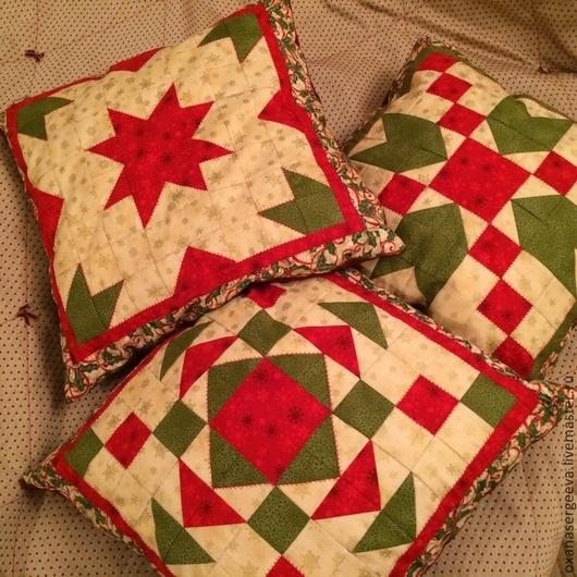 Текстиль, ковры ручной работы. Ярмарка Мастеров - ручная работа. Купить Подушка. Handmade. Лоскутное шитье, лоскутная подушка