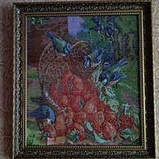 """Картины ручной работы. Ярмарка Мастеров - ручная работа Картина """"Корзина с клубникой"""". Handmade."""