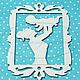 Открытки и скрапбукинг ручной работы. Ярмарка Мастеров - ручная работа. Купить Мама с младенцем №1. Handmade. Чипборд, чипборды, картон