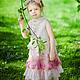 Одежда для девочек, ручной работы. Ярмарка Мастеров - ручная работа. Купить Платье для девочки из войлока. Handmade. Розовый, жемчуг