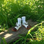 Куклы и игрушки ручной работы. Ярмарка Мастеров - ручная работа Кукольные ботиночки для клоуна. Handmade.