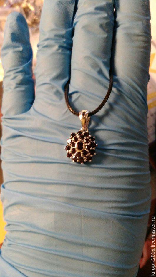 Кулоны, подвески ручной работы. Ярмарка Мастеров - ручная работа. Купить подвеска кулон  из серебра с гранатом  2 шт. Handmade.