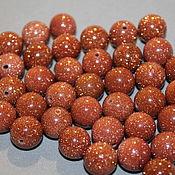 Материалы для творчества handmade. Livemaster - original item Autoremove glass (imitation of aventurine) beads, 12 mm. Handmade.