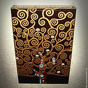 Для дома и интерьера ручной работы. Ярмарка Мастеров - ручная работа Ключница по мотивам Г. Климта большая. Handmade.