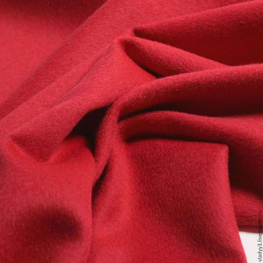 Шитье ручной работы. Ярмарка Мастеров - ручная работа. Купить Кашемир пальтовый  красного цвета. Handmade. Ярко-красный