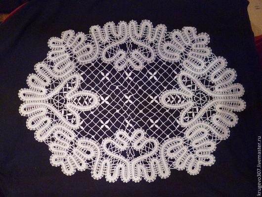 Текстиль, ковры ручной работы. Ярмарка Мастеров - ручная работа. Купить кружевная   салфетка. Handmade. Белый, вологодское кружево