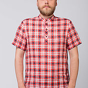 Мужская одежда handmade. Livemaster - original item Men`s linen shirt Amur. Handmade.