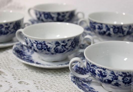 Винтажная посуда. Ярмарка Мастеров - ручная работа. Купить Бульонницы, чашки для супа, Seltmann Weiden W.Germany 1970-е года. Handmade.
