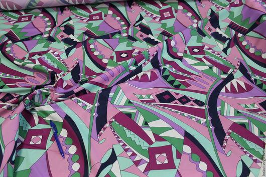 Шитье ручной работы. Ярмарка Мастеров - ручная работа. Купить Итальянская плащевая ткань  PUCCI. 850руб-м.. Handmade.