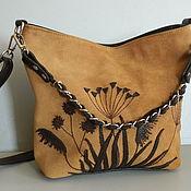 Сумки и аксессуары handmade. Livemaster - original item Bag leather women`s shoulder bag hobo small Bag. Handmade.
