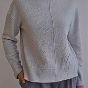 Одежда ручной работы. Ярмарка Мастеров - ручная работа Свитшот из варёной шерсти. Handmade.