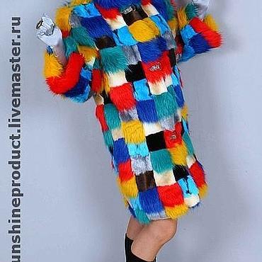 """Одежда ручной работы. Ярмарка Мастеров - ручная работа Шуба """"Мозаика"""". Handmade."""