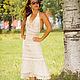 Платья ручной работы. Ярмарка Мастеров - ручная работа. Купить платье по мотивам Виктории Сикретс. Handmade. Бежевый, платье, лён