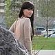 """Платья ручной работы. Ярмарка Мастеров - ручная работа. Купить Платье из тонкой шерсти """"Лорена"""". Handmade. Бежевый, сексуальное платье"""
