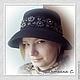 Шляпы ручной работы. Ярмарка Мастеров - ручная работа. Купить Декор шляпы. Handmade. Темно-серый, Вышивка бисером
