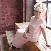 Одежда ручной работы. Ярмарка Мастеров - ручная работа Розовый жемчуг, авторский вязаный костям из итальянского мериноса. Handmade.