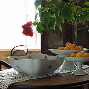 Винтаж handmade. Livemaster - original item Huge Herend salad bowl, hand painted. Handmade.