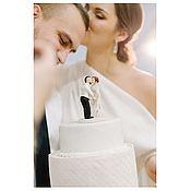 Именные сувениры ручной работы. Ярмарка Мастеров - ручная работа Свадебные фигурки из полимерной глины. Handmade.