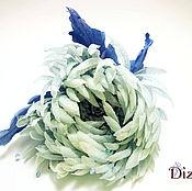 Цветы и флористика handmade. Livemaster - original item Brooch hairpin chrysanthemum