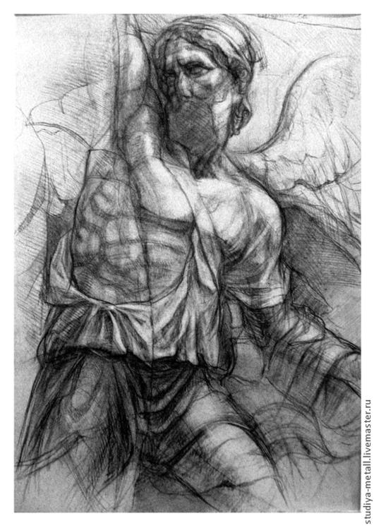 """Люди, ручной работы. Ярмарка Мастеров - ручная работа. Купить рисунок """"Пергамский алтарь"""" монументальная графика. Handmade. Чёрно-белый"""