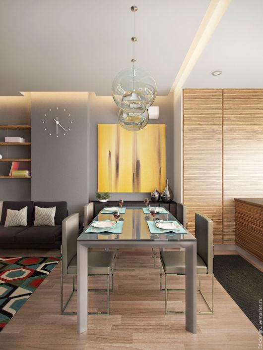 Дизайн интерьеров ручной работы. Ярмарка Мастеров - ручная работа. Купить 3D визуализация гостиной. Handmade. 3d визуализация, гостиная
