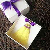 Украшения ручной работы. Ярмарка Мастеров - ручная работа Серьги-кисти нежно-желтого цвета. Handmade.
