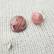 Украшения ручной работы. Ярмарка Мастеров - ручная работа Розовое кольцо и брошь. Handmade.