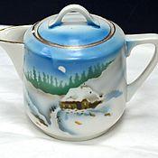 Винтаж handmade. Livemaster - original item Creamer or milk jug from the service Winter Dulyovo f-ka True 1920s. Handmade.