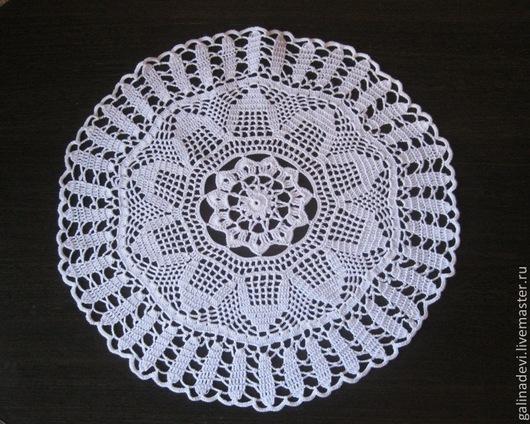 Текстиль, ковры ручной работы. Ярмарка Мастеров - ручная работа. Купить САЛФЕТКА вязаная крючком 44 см № 9, винтаж. Handmade.