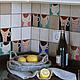 Кухня ручной работы. Заказать Фартук для кухни из керамической плитки с росписью. 'Крея Керамик'. Ярмарка Мастеров. Фартук для кухни, квартира
