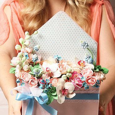"""Цветы и флористика. Ярмарка Мастеров - ручная работа """"Весна пришла"""" из полимерной глины. Handmade."""