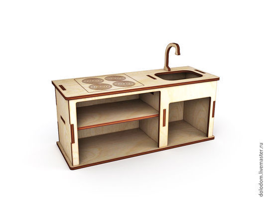 Куклы и игрушки ручной работы. Ярмарка Мастеров - ручная работа. Купить КМ-0000045 Кухонный набор для кукольного домика. Handmade.