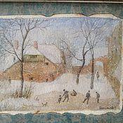 """Картины и панно ручной работы. Ярмарка Мастеров - ручная работа Картина """"Катание на коньках"""".. Handmade."""