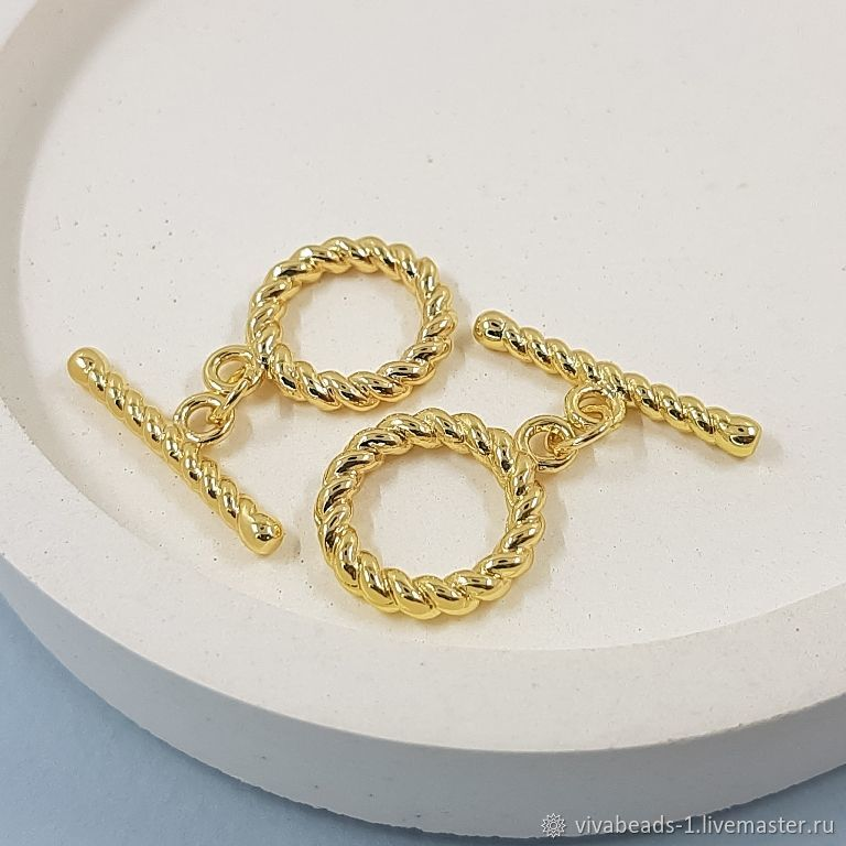 TOGGLE Lock Twisted ring 15 mm gold-plated (5401-Z), Accessories4, Voronezh,  Фото №1