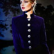 """Одежда ручной работы. Ярмарка Мастеров - ручная работа Жакет фиолетовый """"Генералы любви"""" милитари. Handmade."""