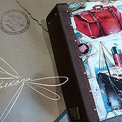 """Канцелярские товары ручной работы. Ярмарка Мастеров - ручная работа фотоальбом """"Саквояж"""". Handmade."""