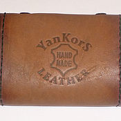 Сумки и аксессуары handmade. Livemaster - original item Brown business card holder on 24 business cards. Handmade.