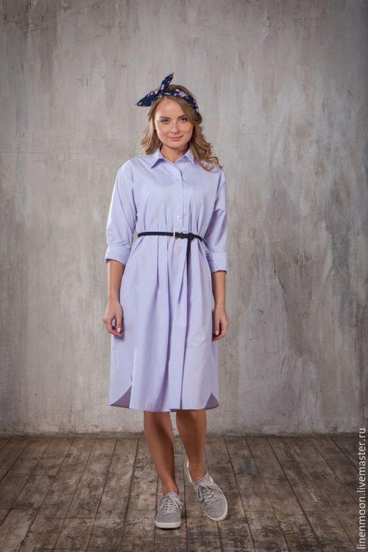 Платья ручной работы. Ярмарка Мастеров - ручная работа. Купить Платье-рубашка. Handmade. Сиреневый, для беременных, весна 2016