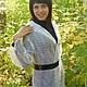 Outer Clothing handmade. 8-coat handmade duvet, outerwear. Nadegda , pukhovyy platok. My Livemaster.Goat, shawl