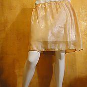 Одежда handmade. Livemaster - original item Mini skirt made of chiffon Copper. Handmade.