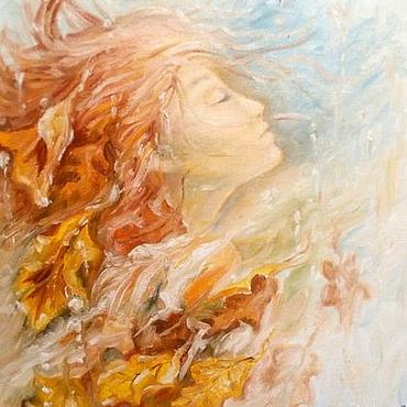 """Картины и панно ручной работы. Ярмарка Мастеров - ручная работа Картина маслом """" Осень """". Handmade."""