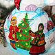 Новый год 2017 ручной работы. Заказать Добрый снеговик (деревянный, резной, расписной). Творческая мастерская Татьяны. Ярмарка Мастеров. Снеговики
