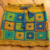 Одежда ручной работы. Ярмарка Мастеров - ручная работа Юбка вязаная. Handmade.