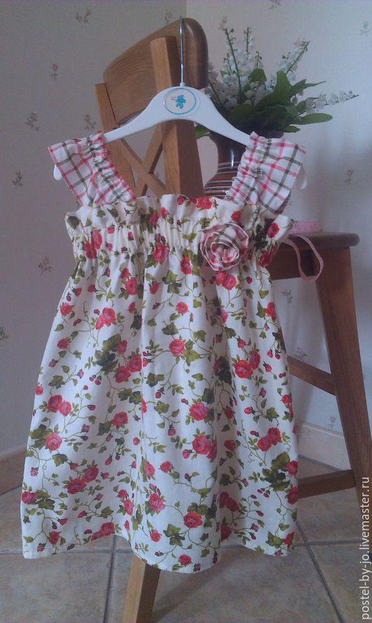 Одежда для девочек, ручной работы. Ярмарка Мастеров - ручная работа. Купить Сарафан Цветочная полянка. Handmade. Комбинированный, сарафан для девочки