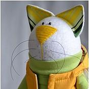 """Куклы и игрушки ручной работы. Ярмарка Мастеров - ручная работа Кот """"Желто-зеленый"""". Handmade."""