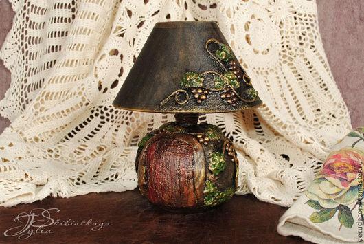 """Освещение ручной работы. Ярмарка Мастеров - ручная работа. Купить Лампа """"Виноград"""". Handmade. Коричневый, лампа, подарок"""