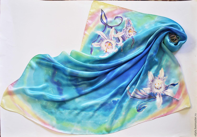 Платки шёлковые ручная роспись